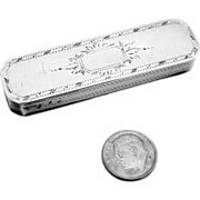 Small Snuff Box Coffin England Sterling Silver 1795