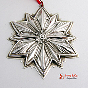 Christmas Ornament 1993 Snowflake Sterling Silver Gorham