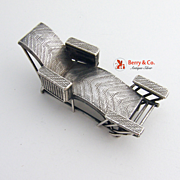 Chinese Export Silver Chaise Lounge Chair Miniature 1900