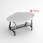 Miniature Table Sterling Silver Holland 1900