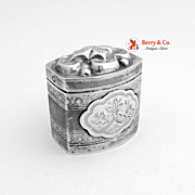 Dutch 800 Silver Peppermint Box