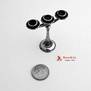 800 Silver Miniature Candelabrum 1900