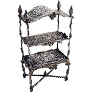 German 800 Silver Miniature Etagere 1900