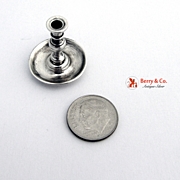 Sterling Silver Miniature Chamber Stick 1950
