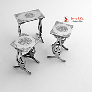 Chinese Export Silver Miniature Table Set Three Piece