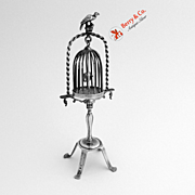 Dutch 833 Standard Silver Miniature Bird Cage And Stand