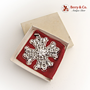 Christmas Ornament Reed and Barton Christmas Cross Sterling Silver 1974