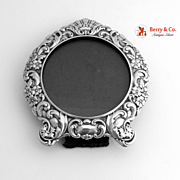 Sterling Silver Round Picture Frame 1900