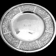 Sterling Silver Baby Plate Nursery Rhyme Webster 1910