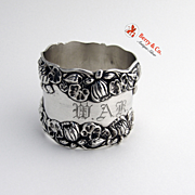 Pond Lily Sterling Silver Napkin Ring Gorham