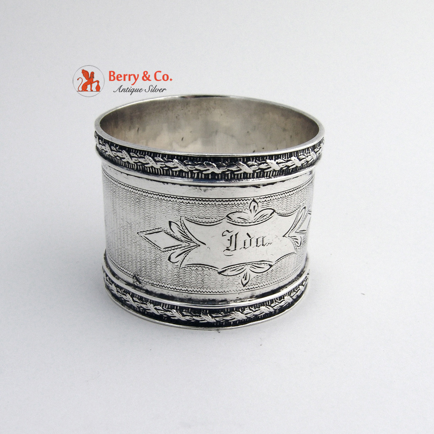 coin silver napkin ring from berrycom on ruby