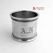 Sterling Silver Napkin Ring Gorham 1890