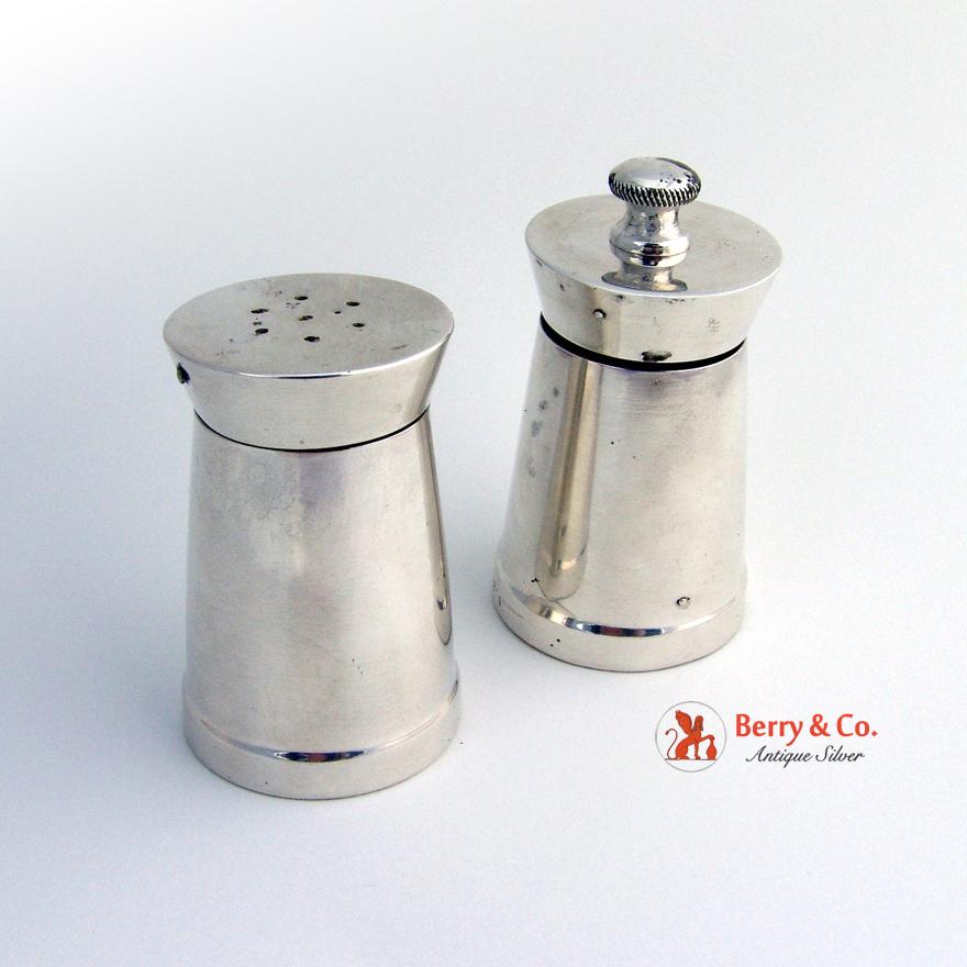 Sterling Silver Pepper Grinder And Salt Shaker Gorham Black Starr