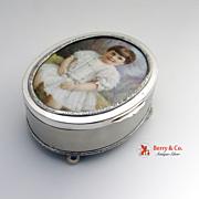 Russian 84 Standard Silver Dresser Box Hand Painted 1896