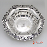 Sterling Silver Art Nouveau Serving Bowl Unger Brothers