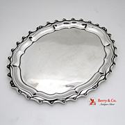 Sterling Silver Chippendale Dresser Tray Gorham 1892