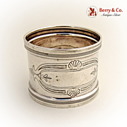Napkin Ring Coin Silver 1890