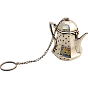 Tea Pot Tea Ball Sterling Silver G.H. French 1940