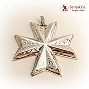 Christmas Ornament Cross Reed and Barton 1977