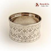 Napkin Ring Coin Silver 1880