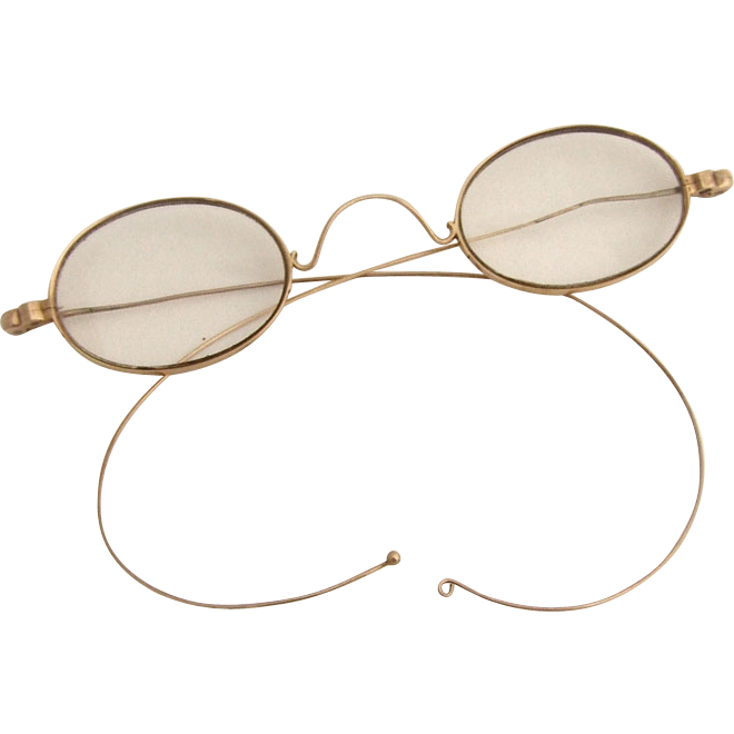 Gold Frame Reading Glasses : 14k Gold Spectacles Reading Glasses 1870 Wire Frame from ...