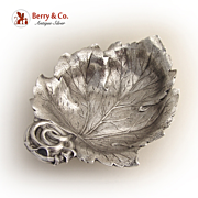 Leaf Bowl Cast Gorham Durgin Sterling Silver
