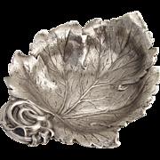 Leaf Bowl Cast Gorham Durgin Sterling Silver