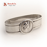 Medallion Napkin Ring 1870 Coin Silver
