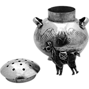 Lama Figural Salt Shaker Peru 1940 Sterling Silver