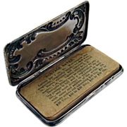 Scroll Stamp Box 1915 Sterling Silver