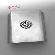 Bird Art Deco Dresser Box Hand Made 1940 Sterling Silver