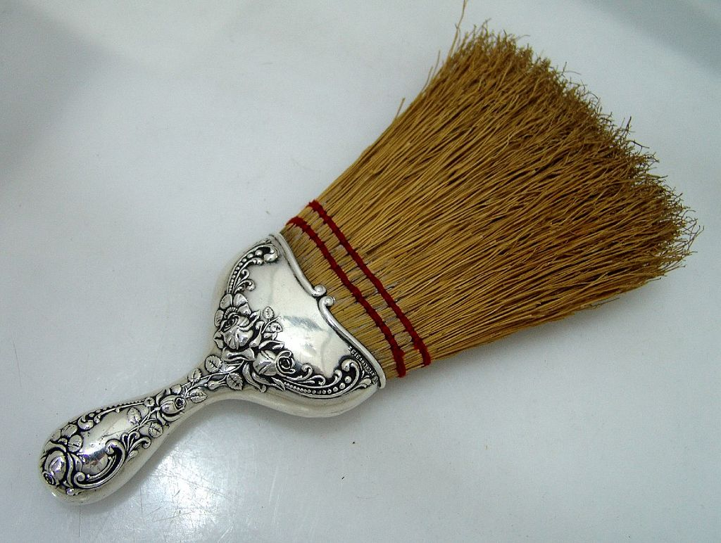 Scroll Foliate Floral Whisk Broom Simon Brothers Sterling