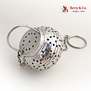 Japanese Lantern Tea Ball Webster 1930 Sterling Silver