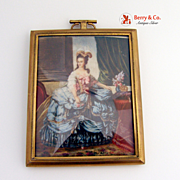 Hand Painted Brass Frame 1900