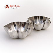 Salt Dishes Pair G.Unite 1916 Birmingham Sterling SIlver