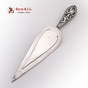 Trowel Bookmark Ornate 1901 Birmingham Sterling Silver