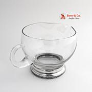 Creamer Glass 1950 Sterling Silver