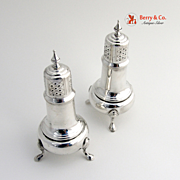 Colonial Salt and Pepper Shakers F. Whiting Sterling Silver