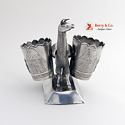 Lama Figure Toothpick Holder Peru 1940 Sterling Silver