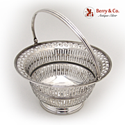Open Work Swing Handle Basket Webster 1915 Sterling Silver