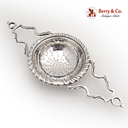 Tea Strainer Double Handle Currier and Roby Sterling Silver