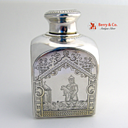 Russian Square Domed Tea Caddy 1882 Moscow 84 Silver