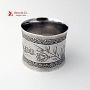 Aesthetic Napkin Ring 1880 Wood and Hughes Coin Silver