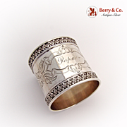 Aesthetic Napkin Ring 1880 Coin Silver