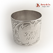 Aesthetic Napkin Ring 1888 Coin Silver
