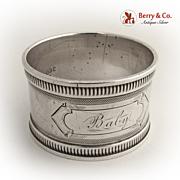 Baby Napkin Ring 1880 Coin Silver