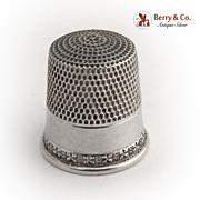 Thimble 1900 Sterling Silver
