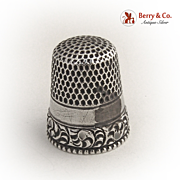 Scroll Thimble Sterling Silver