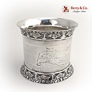 Aesthetic Napkin Ring Coin Silver