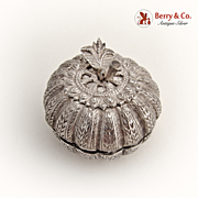 Chinese Export Silver Apple Box